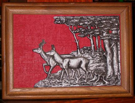cast metal deer