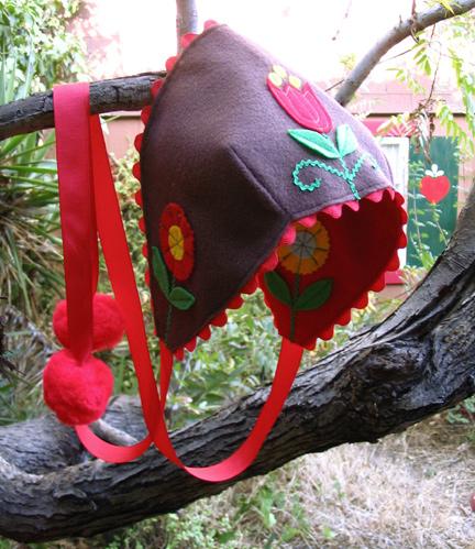 felt folklore bonnet