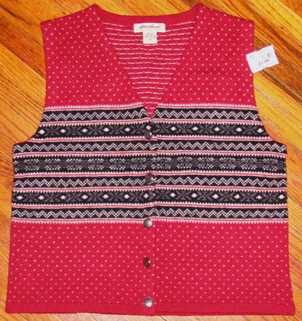 frumpy sweater vest