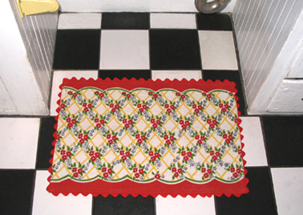tea towel kitchen rug