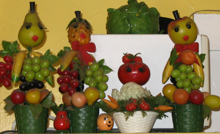 plastic veggie people!