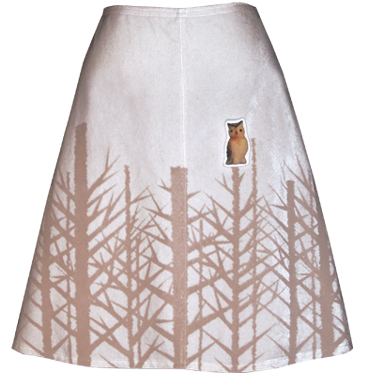 snow white winter woods skirt