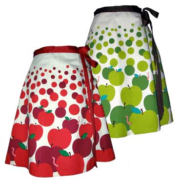apple pickin' skirt :  skirt apples wrap apple pickin