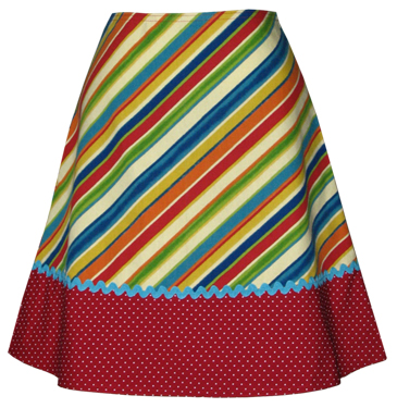 fruit stripe skirt