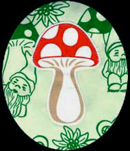 toadstool applique detail