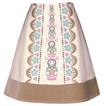 snow maiden matryoshka skirt