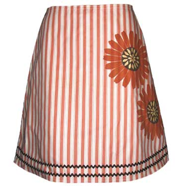 Striped sunflower skirt