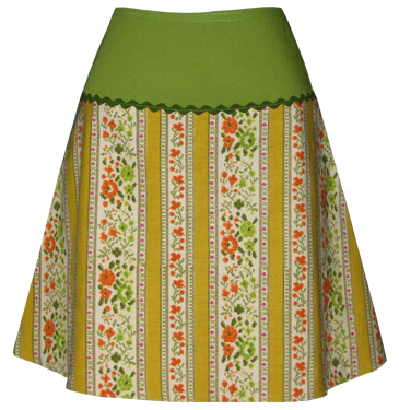 wallpaper print skirt