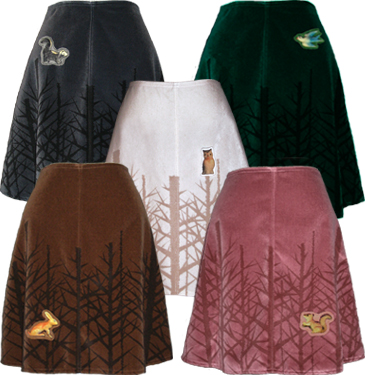 winter woods skirt