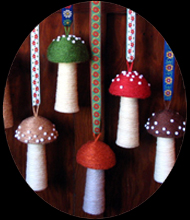 yarn toadstools